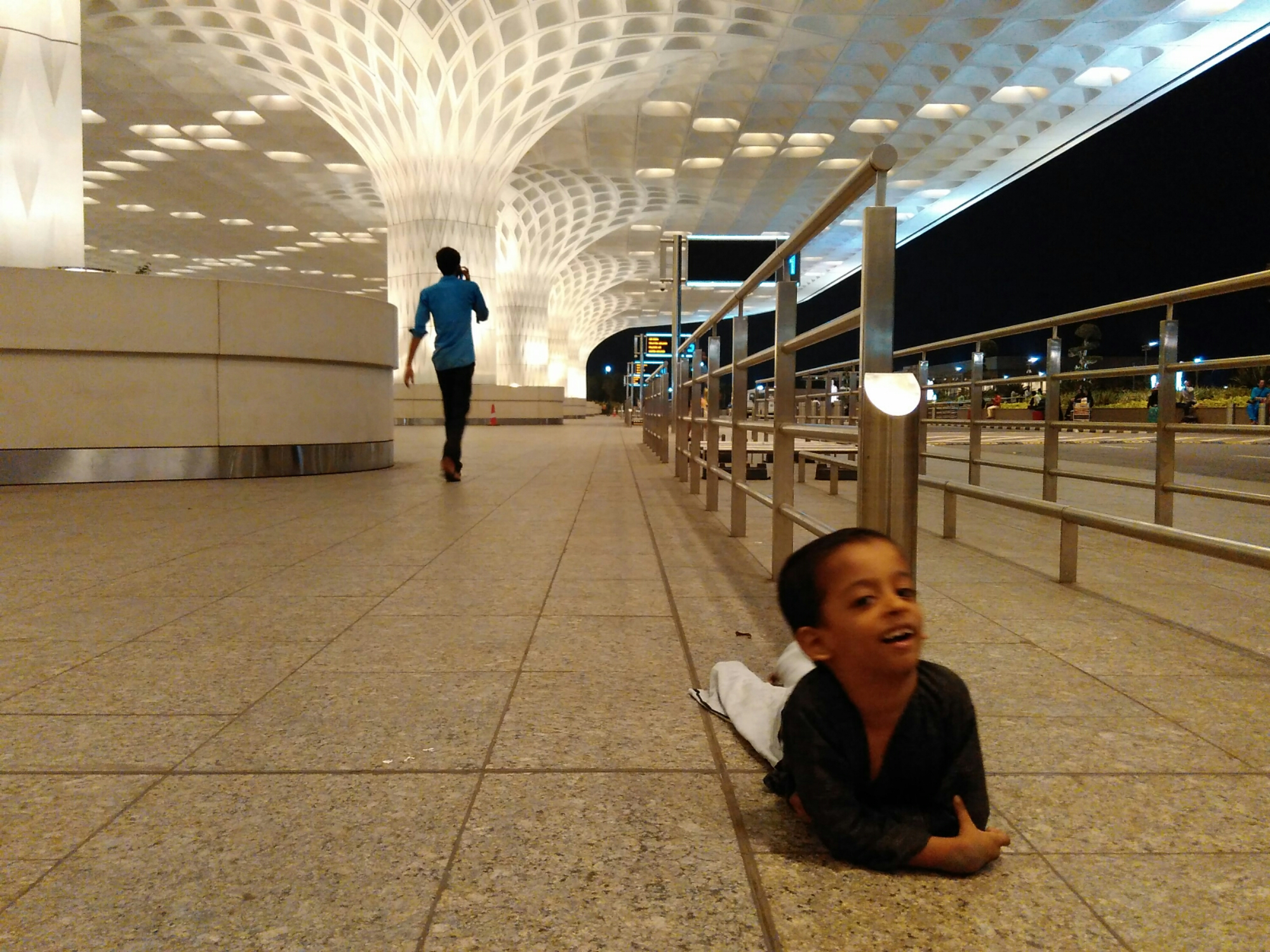 Nisarga exploring the Mumbai international airport